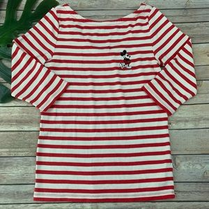 Gap x Disney women's embroidered Mickey Mouse top